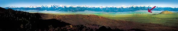 Sangre de Cristo Mountains - Bed and Breakfast in Westcliffe, Colorado, a rural community established at the base of the World's Longest Mountain Range - The Sangre de Cristo Mountains. Near Colorado Springs, Pueblo, Colorado City & C�non City.